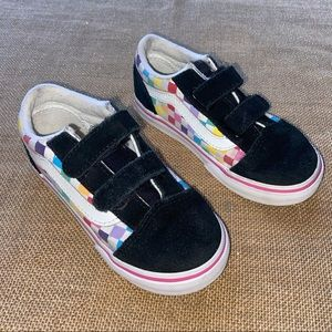 Toddler Vans Size 9.5 In Black/rainbow